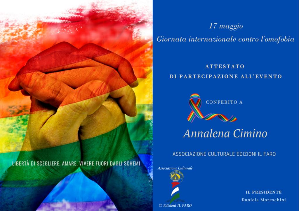 Evento contro l'omofobia Associazione culturale edizioni il faro